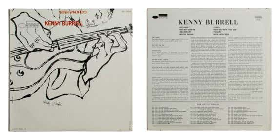 KENNY BURRELL 1956 Kenny Burrell LP, 12'' (30 cm), Blue Note Records Jazz Al centro