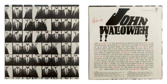 THIS IS JOHN WALLOWITCH!!! 1964 John Wallowitch LP, 12'' (30 cm), Serenus Records Cabaret Warhol