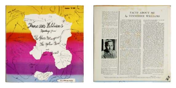 TENNESSEE WILLIAMS READING FROM THE GLASS MENAGERIE, THE YELLOW BIRD AND FIVE POEMS 1960 Tennessee
