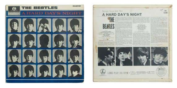 A HARD DAY'S NIGHT 1964 The Beatles LP, 12'' (30 cm), Parlophone Records Rock Sebbene