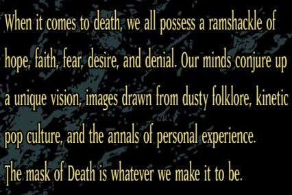 When it comes to death, we all possess a ramshackle of hope, faith, fear, desire,