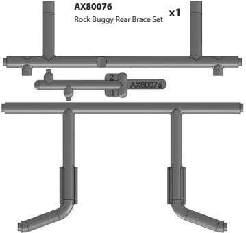 AX80076 x1 Rock Buggy Rear Brace Set