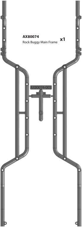 AX80074 x1 Rock Buggy Main Frame