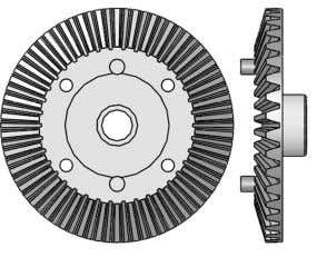 Diff Gasket 16x25x0.5mm x 2 AX30500 Heavy Duty Locker x 2 AX30392 38T Bevel Gear x