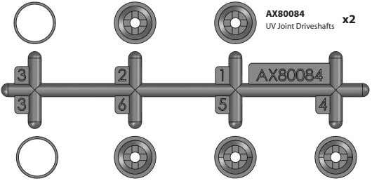 AX80084 x2 UV Joint Driveshafts