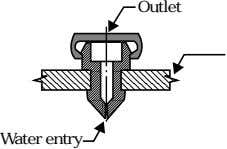 Outlet Water entry