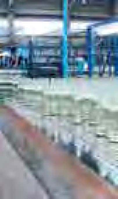 in Australasia and the non-returnable bottle segment. n Glass bottles on the packing line n Glass