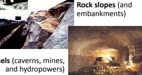 Rock slopes (and embankments)