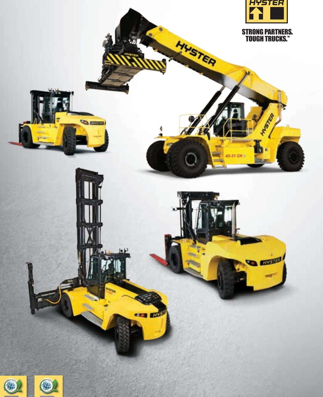 STAGE IIIA STAGE IV HYSTER BIG TRUCKS RANGE OVERVIEW WWW.HYSTER.EU