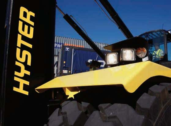 HYSTER BIG TRUCKS CONTENTS 2 Hyster Big Trucks 4 Product Overview - Industrial Forklift Trucks 8