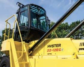 offers excellent driver comfort and all- round visibility 5-8 HIGH CONTAINER HANDLER: H18-23XM-12EC n Designed for