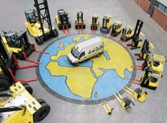 assemble complete trucks for the different world markets. GLOBAL ADVANTAGES Behind Hyster you will find the