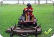 Place warning signs and mount blinking lights on the mower. Figure 58: The safety guard should