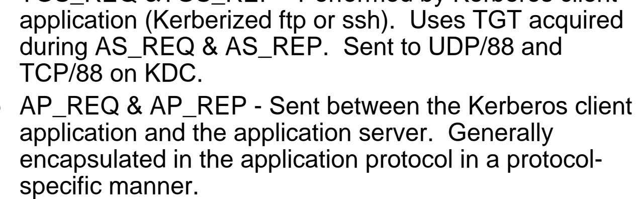 and the application server. Generally encapsulated in the application protocol in a protocol- specific manner.