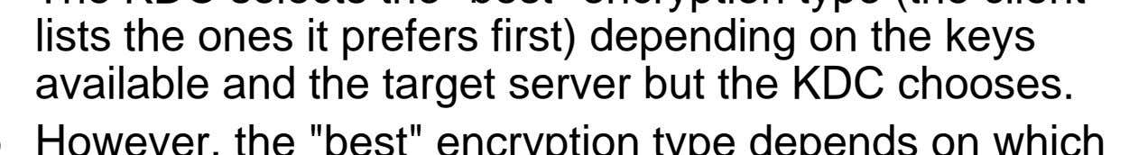 depends on which key or data we're talking about, and which server you're talking to! Encryption