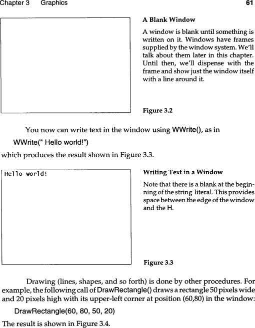 Chapter 3 Graphics 61 A Blank Window A window is blank until something is written
