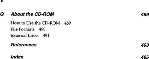 x Q About the CD-ROM 489 How to Use the CD-ROM 489 File Formats 490