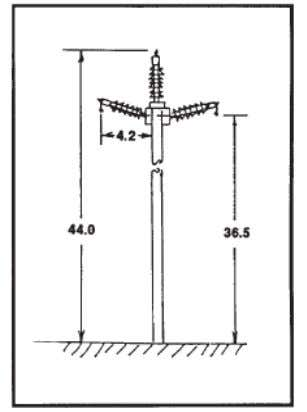 Electromagnetic Field from Power Lines Figure 3: Short Delta Structure [25] Figure 4: Tall Delta Structure