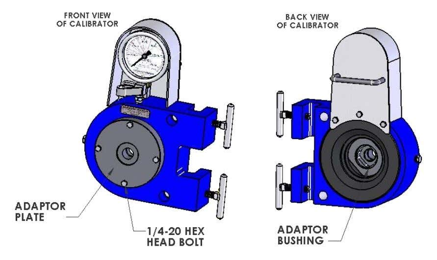 www.skidmore-wilhelm.com Installing Adaptors Select the appropriate size and type of adaptor plate and bushing for the