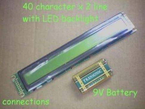 11. D4 12. D5 13. D6 14. D7 15. Backlight + 16. Backlight 0V Most LCDs