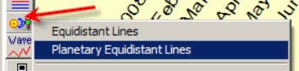 also you can order displaying additional lines (overtones): Planetary equidistant lines Technically this charting tool