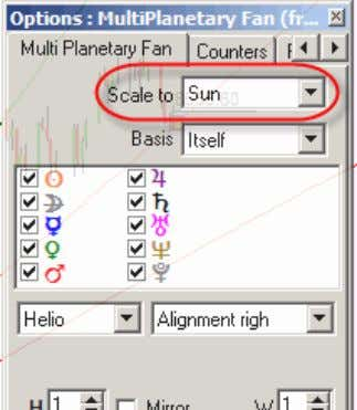 In options you define the planet to be used for Scaling: Two Dimensional distance charting tools