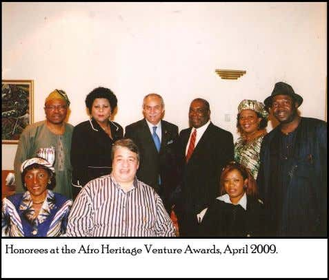 Honorees at the Afro Heritage Venture Awards, April 2009.