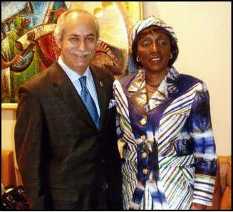 Dr. Guillermo Linares and Dr. Marie Umeh at Nigeria House in New York, April 2009.