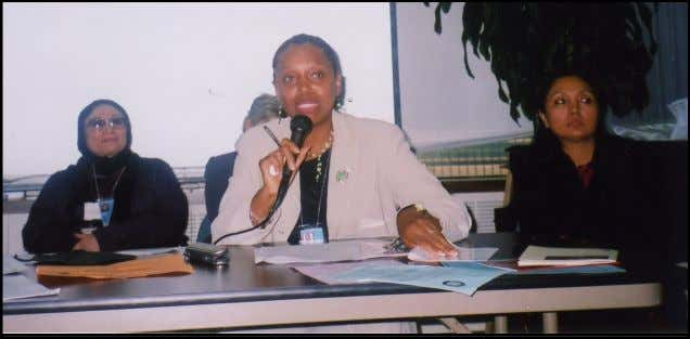 The Flora Nwapa Club Newsletter Page 19 Dr. Eleanor Nwadinobi speaking to an audience at the