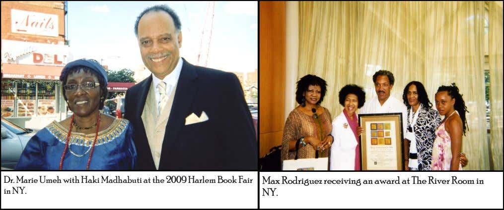 Dr. Marie Umeh with Haki Madhabuti at the 2009 Harlem Book Fair in NY. Max