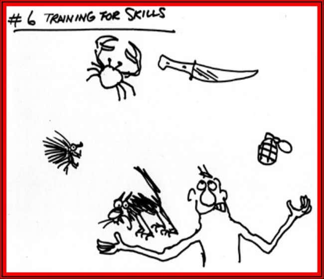 "Production Floor Training Training ""Department"" Illustration by Pat Oliphant"