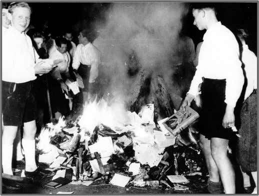 book burning taking place on May 10th, 1933. University students burnt upwards of up to 25
