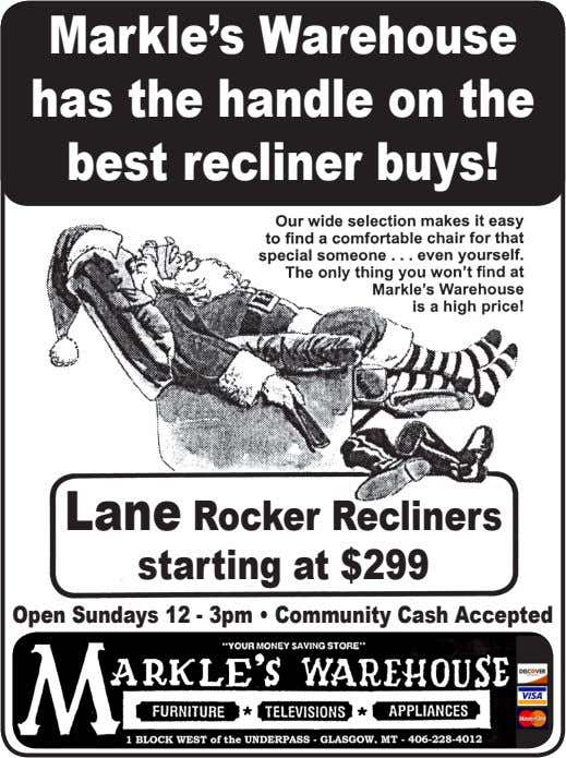 Markle's Warehouse has the handle on the best recliner buys! Lane Rocker Recliners starting at $299