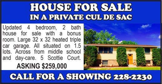 HOUSE FOR SALE IN A PRIVATE CUL DE SAC Updated 4 bedroom, 2 bath house for