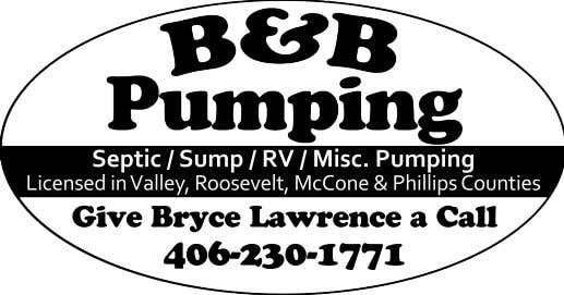 Septic / Sump / RV / Misc. Pumping Licensed in Valley, Roosevelt, McCone & Phillips Counties