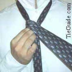 Tie a Necktie: Half-Windsor Knot http://www.tieguide.com/half-windsor.htm 5. Bring the wide end around the front (left