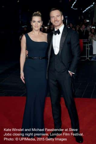Kate Winslet and Michael Fassbender at Steve Jobs closing night premiere, London Film Festival. Photo: