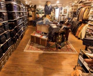 shop, located in Winterthur, transfers you back in time. Men's department: the variety of denims and