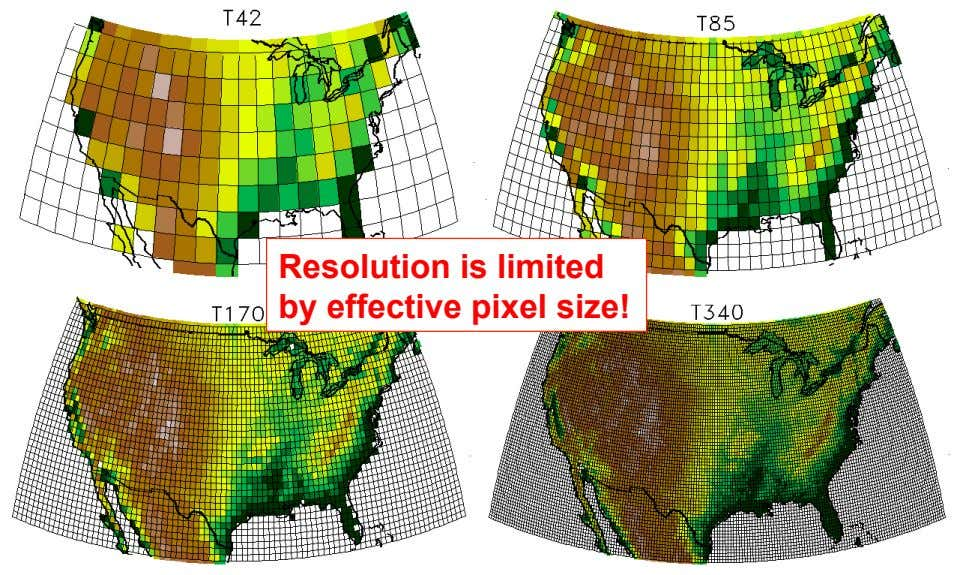 Resolution is limited by effective pixel size!