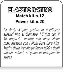 ELASTIC RATING Match kit n.12 Power kit n.20 La Airity X può gestire in scioltezza