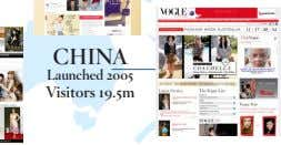 CHINA Launched 2005 Visitors 19.5m
