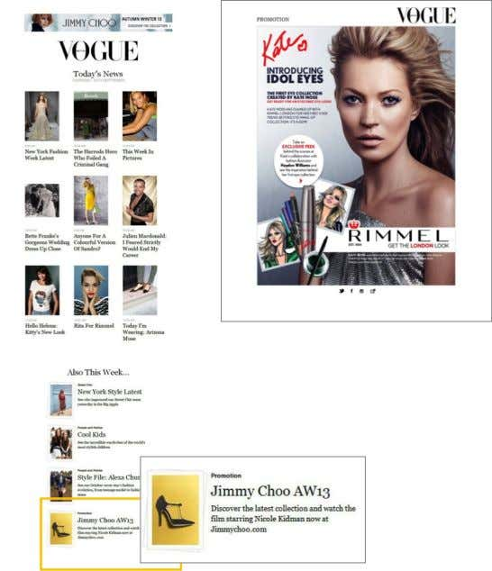 VOGUE.CO.UK - ADVERTISING OPPORTUNITIES EMAIL OPPORTUNITIES • Partners can utilise our large email subscriber base to