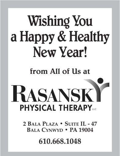 Wishing You a Happy &Healthy NewYear! from All of Us at LLC 2 BALA PLAZA