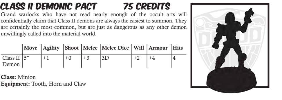 Class II Demonic Pact 75 Credits Grand warlocks who have not read nearly enough of