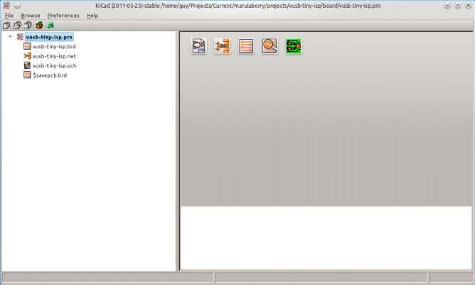 of the KiCad suite. It coordi- nates the EDA workflow. Above is the KiCad version in