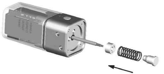 3 Mechanical mounting 1. 2. 3. 4. Fix the spindle and screw the operating bush strongly