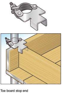 types of fitting to be used to secure the toe-board. Fig. 20 Free-Standing Independent Scaffolds These