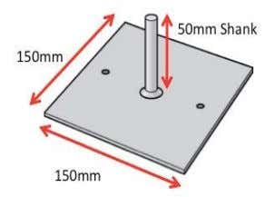 sole pad and base plate. Fig. 3 Sole Pad Dimensions Fig. 2 Fig.4 Base Plate Dimensions