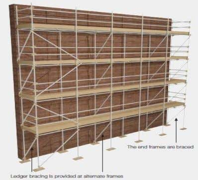 Module 5 Independent Fig. 12 Fig. 13 Façade Bracing Façade bracing for independent scaffold requires one