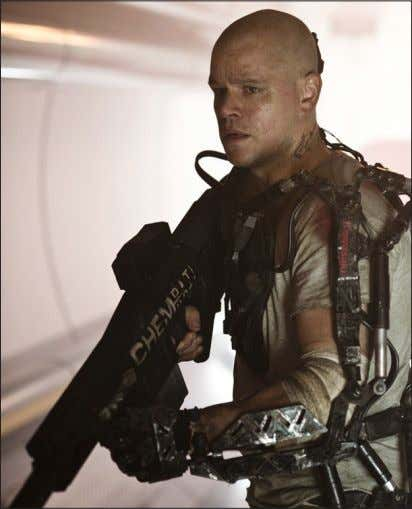 "COURTESY MEDIA RIGHT CAPITAL AND TRISTAR PICTURES ""Elysium"", starring Matt Damon, encourages the viewer to"